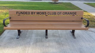 MOMS Club of Orange bench at Handy Park